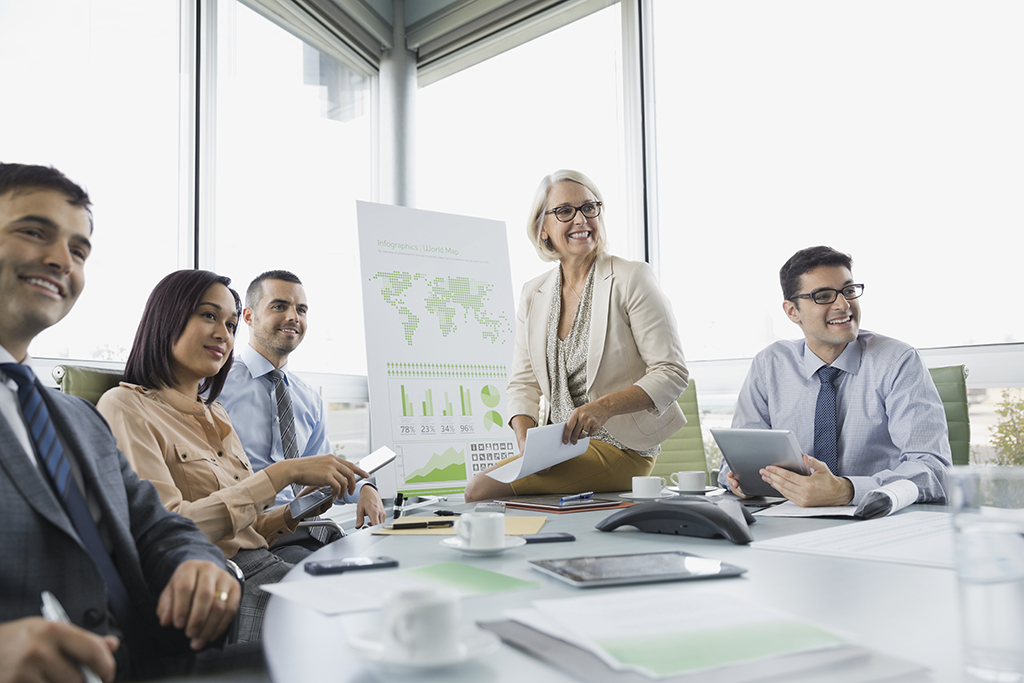 Personer vid möte